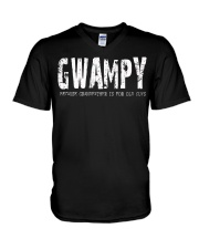 Gwampy Because Grandfather is for old guys V-Neck T-Shirt thumbnail