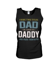I have two titles Dad and daddy - RV10 Unisex Tank thumbnail