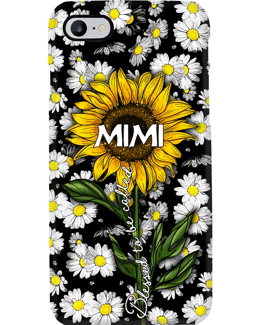 Blessed to be called  mimi - Sunflower art Phone Case