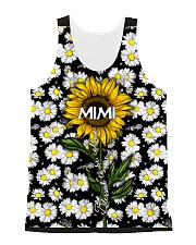 Blessed to be called  mimi - Sunflower art All-over Unisex Tank thumbnail