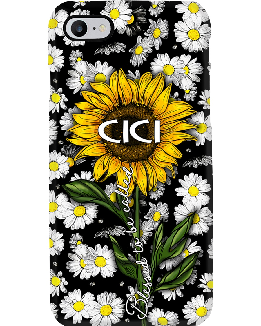 Blessed to be called Cici - Sunflower art Phone Case