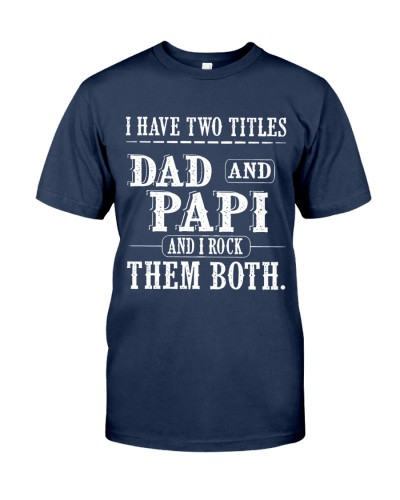 Two titles Dad and Papi V1