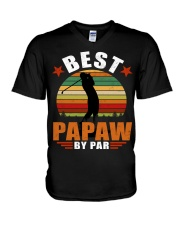 Best Papaw ever V-Neck T-Shirt thumbnail
