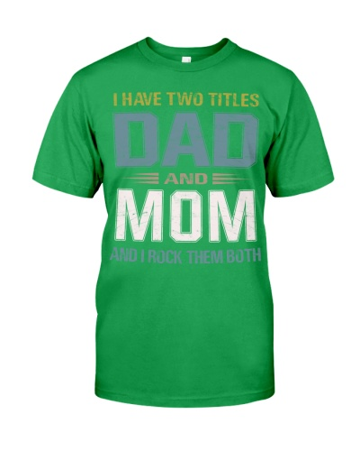 I have two titles Dad and Mom - RV10