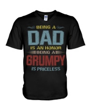 Being a Grumpy is priceless V-Neck T-Shirt thumbnail