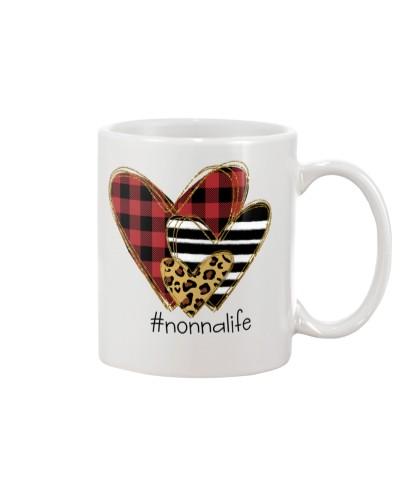 Love  nonna life - Buffalo plaid heart Mug