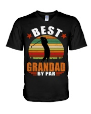 Best Grandad By Par V-Neck T-Shirt thumbnail