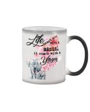 Life comes with Yaya Color Changing Mug thumbnail