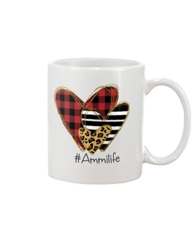 Love Ammi life - Buffalo plaid heart Mug