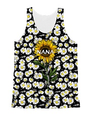 Blessed to be called  nana - Sunflower art All-over Unisex Tank thumbnail