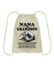 Nana and grandson Drawstring Bag thumbnail