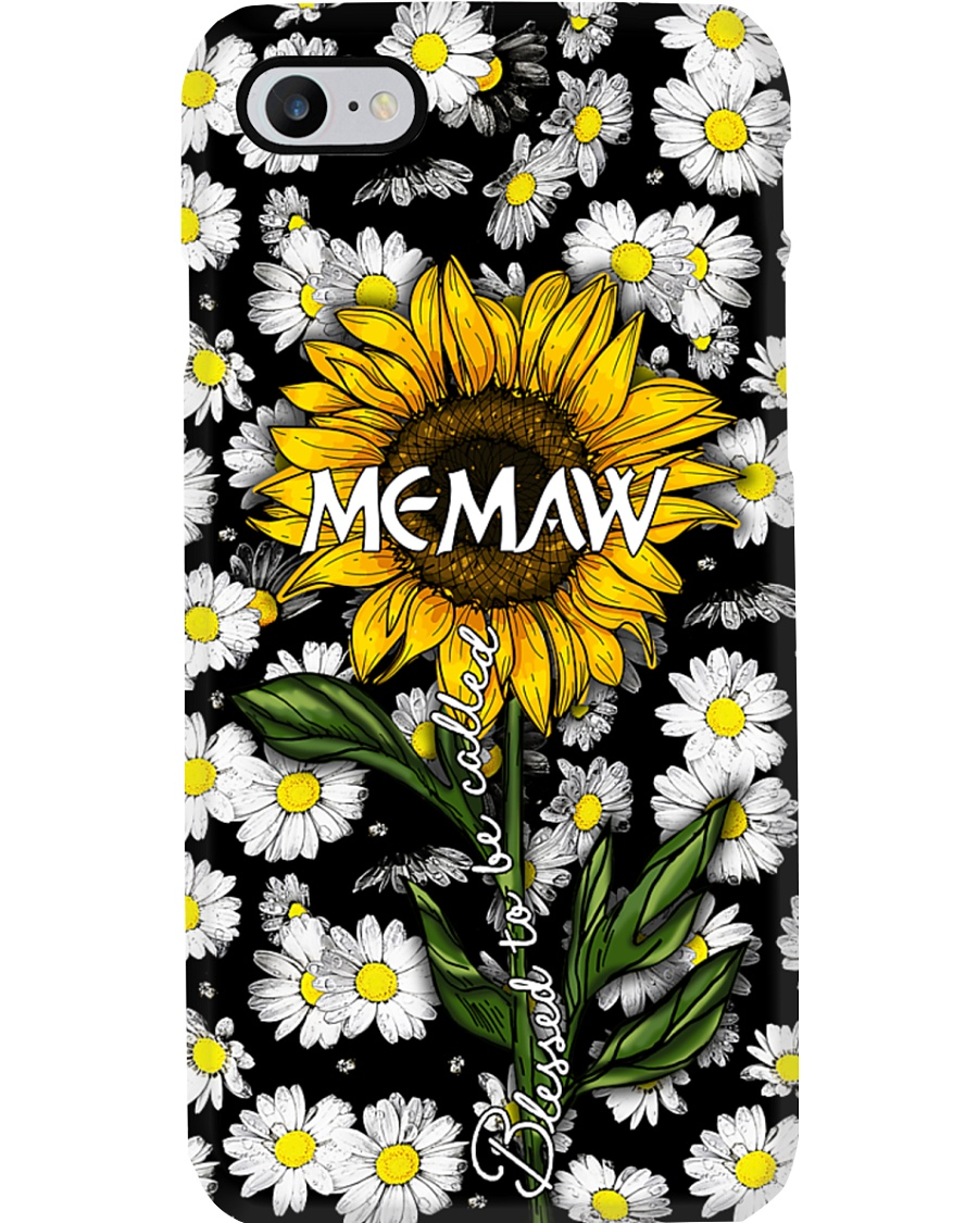 Blessed to be called  memaw - Sunflower art Phone Case