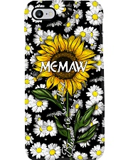 Blessed to be called  memaw - Sunflower art Phone Case i-phone-7-case