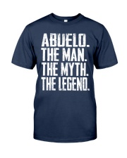Abuelo- The Man - The Myth - V2 Classic T-Shirt front