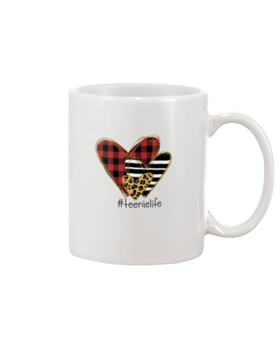 Love teenie life - Buffalo plaid heart Mug