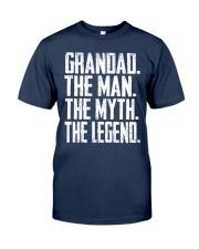 Grandad- The Man - The Myth - V2 Classic T-Shirt front