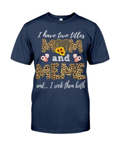 Mom and Meme - Leopard Sunflower
