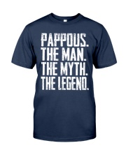 Pappous- The Man - The Myth - V2 Classic T-Shirt front