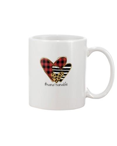 Love nana-nana life - Buffalo plaid heart Mug