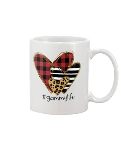 Love  gammy life - Buffalo plaid heart Mug