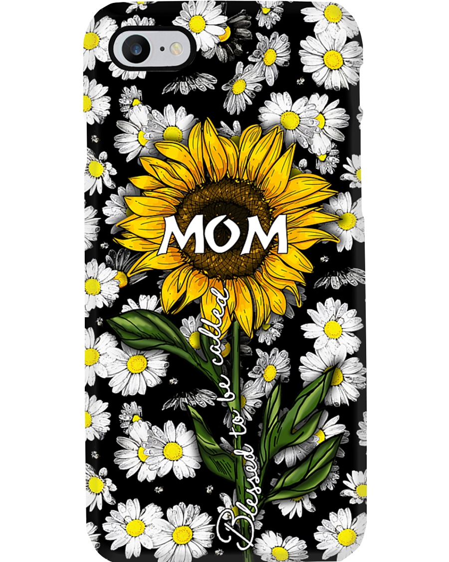Blessed to be called  mom - Sunflower art Phone Case