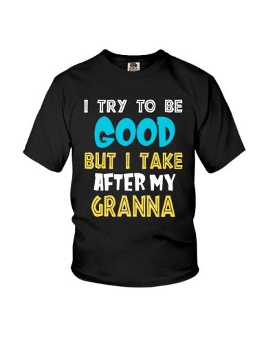 I take after my granna