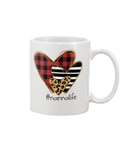 Love  nanna life - Buffalo plaid heart Mug