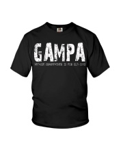 Gampa because Grandfather is for old guys Youth T-Shirt thumbnail