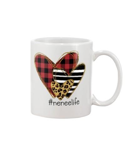 Love  nenee life - Buffalo plaid heart Mug