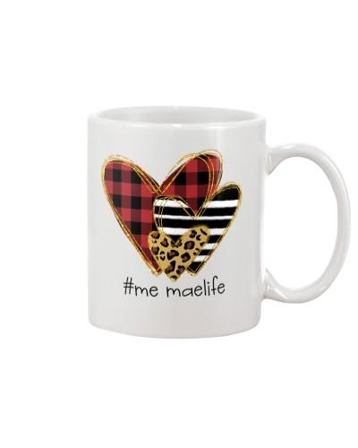 Love Me Mae life - Buffalo plaid heart Mug