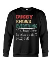 Dubby  knows everything Crewneck Sweatshirt thumbnail