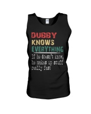 Dubby  knows everything Unisex Tank thumbnail