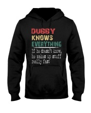 Dubby  knows everything Hooded Sweatshirt thumbnail