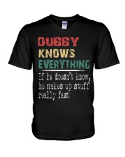Dubby  knows everything V-Neck T-Shirt thumbnail