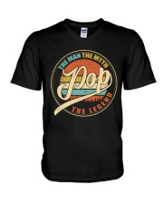 Pop - The Man - The Myth V-Neck T-Shirt thumbnail