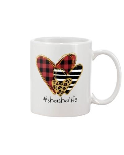 Love Shasha life - Buffalo plaid heart Mug