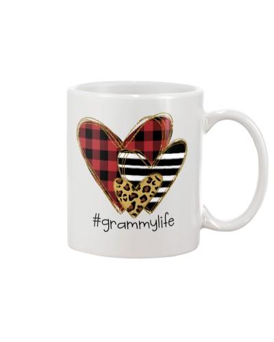 Love  grammy life - Buffalo plaid heart Mug