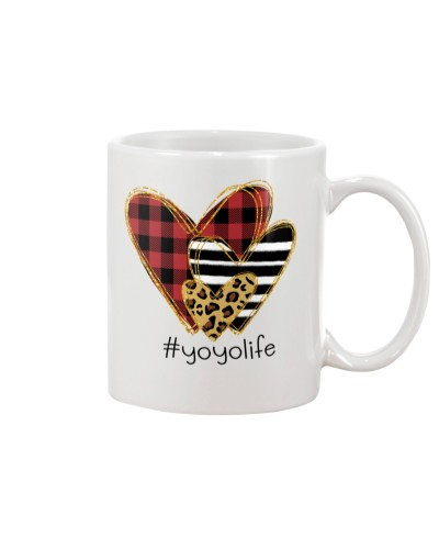 Love Yoyo life - Buffalo plaid heart Mug