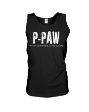 P-Paw Because Grandfather is for old guys Unisex Tank thumbnail