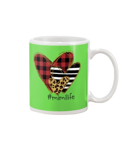 Love mimi life - Buffalo plaid heart Mug