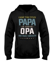 I have two titles Papa and Opa - RV10 Hooded Sweatshirt thumbnail