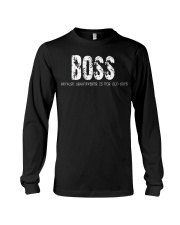 Boss because Grandfather is for old guys Long Sleeve Tee thumbnail