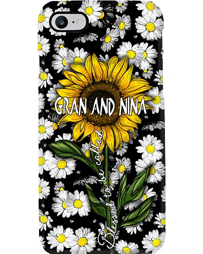Blessed to be called GRAN AND NINA - Sunflower art