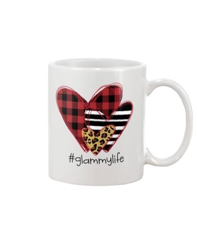 Love Glammy life - Buffalo plaid heart Mug