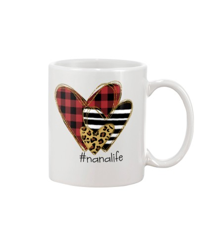 Love  nana life - Buffalo plaid heart Mug