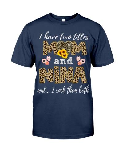 Mom and Nina - Leopard Sunflower