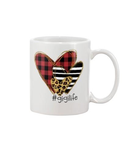 Love Gigi life - Buffalo plaid heart Mug