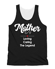 Mother Loving Caring The Legend All-over Unisex Tank thumbnail