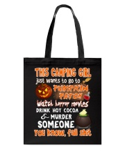 CAMPING GIRL PUMPKIN PATCH HALLOWEEN COSTUME Tote Bag thumbnail