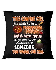 CAMPING GIRL PUMPKIN PATCH HALLOWEEN COSTUME Square Pillowcase front